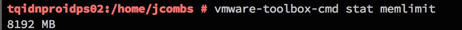 vmware-toolbox-cmd stat memlimit